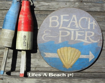 Beach House Sign, original, wooden art ZM B &P