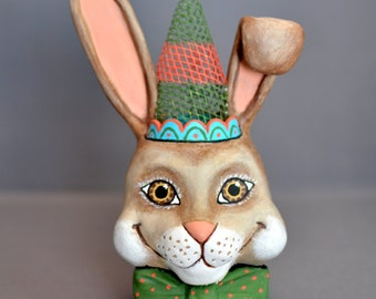 Easter Rabbit with Party Hat