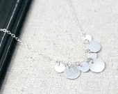 Sterling Silver Disc Necklace / Modern Jewelry / Shiny Sterling Silver / Simple Silver Necklace