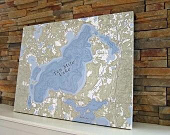 Ten Mile Lake - Canvas Lake Map