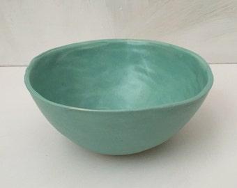 Seafoam matte cereal/soup/salad bowl