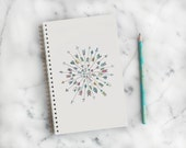 Lined Notebook with back pocket – Arrow Design