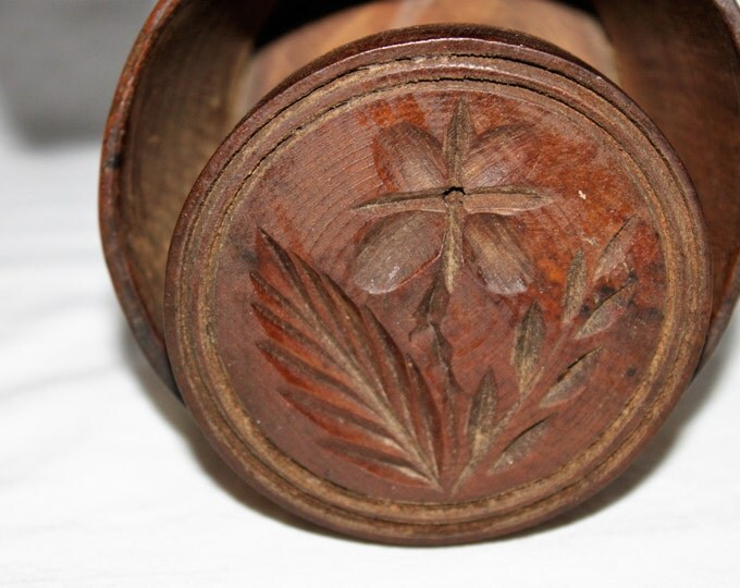 Antique Mid 1800s Wooden Butter Mold