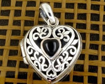 16% Off Sale Sterling Silver Heart Locket - Pendant