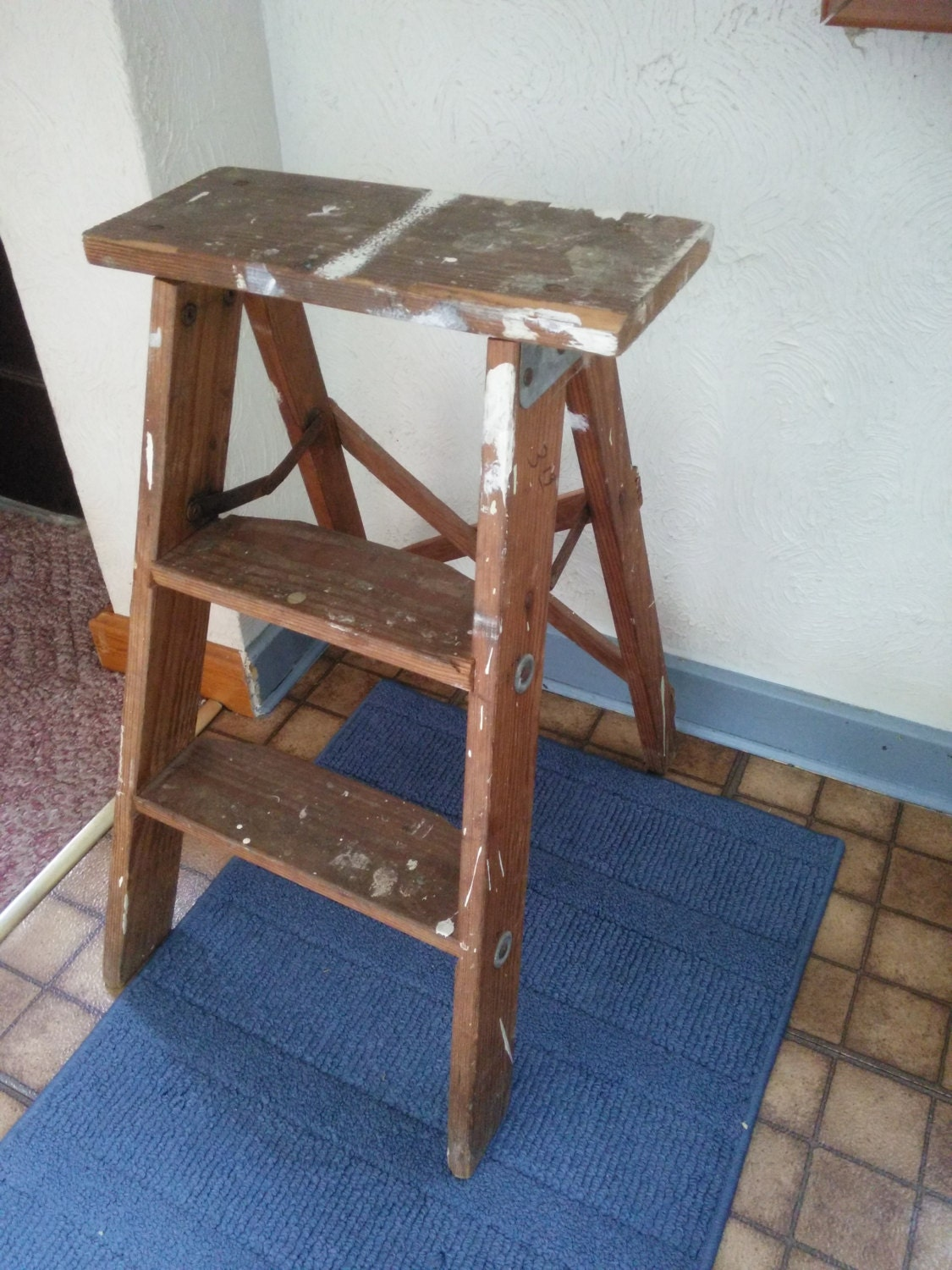 Vintage Wood Step Ladder Vintage Two Step Ladder Vintage