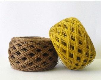 20%SALE 3ply  linen yarn linen thread  linen natural yarn
