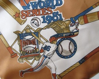 Vintage 1981, Dodgers World Series Scarf, Made in Italy, Brand New, Never Worn