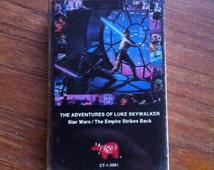 The Adventures of Luke Skywalker • Star Wars / The Empire Strikes Back Cassette Tape 1980 RSO Records Lucasfilm