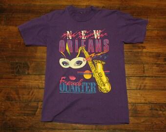 1990 New Orleans mardi gras purple tshirt small