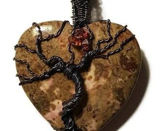 Tree of Life Stone Pendant