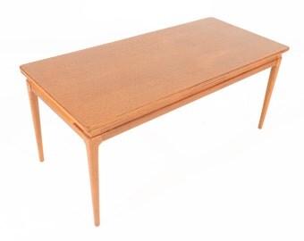 Danish Mid Century Modern Draw Leaf Coffee Table