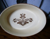 """Vtg Pfaltzgraff Village 10"""" Oval #241 Baking Dish Rare HTF c1970s"""