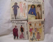 McCall's 3303 Shari Belafonte Dress McCall's 7354 Jaclyn Smith Lounger Cover Up McCall's 7372 Wraps McCall's 4257Elastic Waist Skirts/Pants