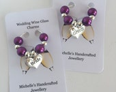 Wedding Wine Glass Charms,  Wedding Table Decor, Wine Glass Charms, Wedding Favour Gift, Wine Glass Markers, Champagne Glass Decorations