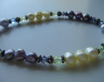 Light Purple Freshwater Pearls Bracelet