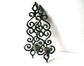 Gothic Candle Holder - Wall Sconce - Pair Candle Holders - Black Candle Holders - Metal Candle Holders