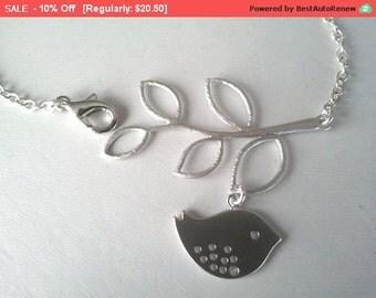 Bird and Branch Bangle, Charm, Bracelet -  Bangle,Friendship, Birthday Gift,Wedding Bracelet