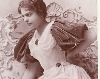 Psyche Knot Photo Beautiful Woman Fabulous Antique Photograph