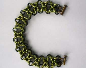 Olivia Bracelet in Green and Black