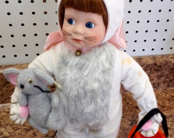 Vintage bisque porcelain doll Melissa Halloween doll by Danbury Mint