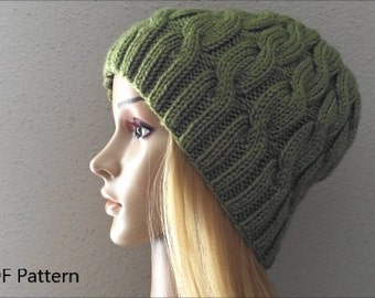 PDF Pattern, How To Knit A Cable Hat