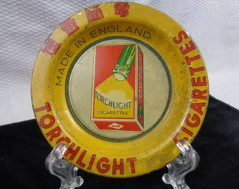 Vintage Torchlight Cigarettes Tip Tray, Advertising Tip Tray