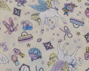 Cute Unicorn Pegasus Print Japanese White - 110cm x 50cm