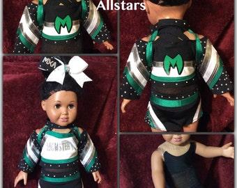 Adrenaline, Monster Elite, Raiders, Elite & Twisters Doll Cheer Uniform