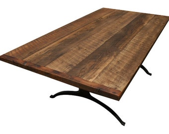 Rustic Modern Reclaimed Wishbone Table