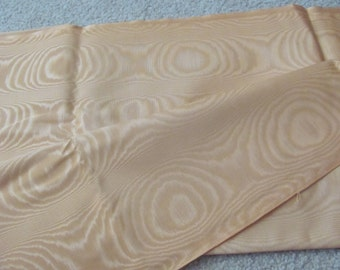 """Fabric Solid Pale Orange Moire Fabric Yardage - 48"""" x 72"""" 2 yards total"""