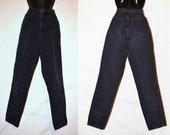 High Waisted Jeans, Size 7, Black Jeans, LA Gear Jeans, Vintage Jeans, High Waisted Denim, Hipster, Cotton, Women's 7, Juniors Jeans, Misses