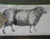 Sheep zipper pouch