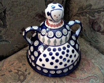 Ceramic Folk Art Cheese Dome