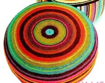 """Vintage 70s """"LARGE"""" Floor Pillow - PDF Crochet Pattern - Home Decor"""