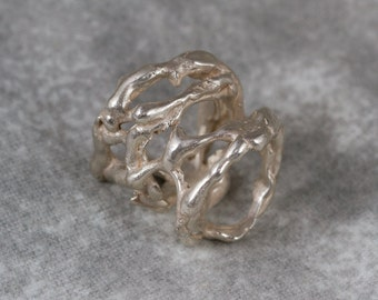 Free formed Silver Ring