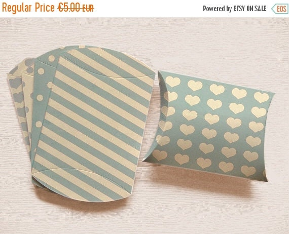 80% OFF BABY BLUE Pillow Box Diy Packaging Baby Shower Party Favors bridal shower gift box printable baptism favors