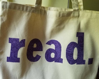 read. Library tote