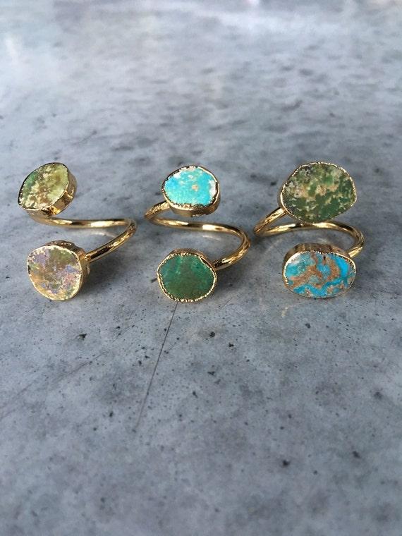 Turquoise Jasper Rings