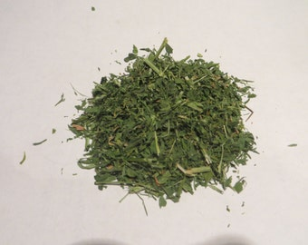 Dried Alfalfa Loose Bulk Wholesale Tea Cut Sifted 1/2 oz sample to 2 pounds available.  (1 4 8 12 16 ounce lb lbs)