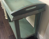 Distressed Side Table with Tray