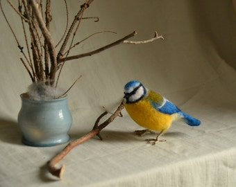 "Felt toy ""Blue tit""..... I will make this item for your order"