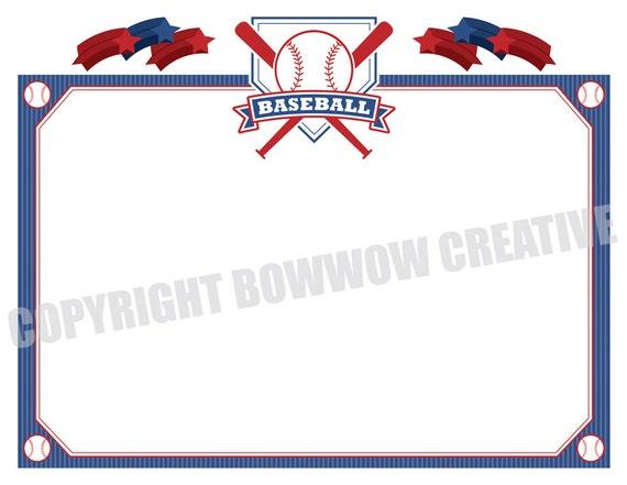 Baseball certificate softball tee ball award border for Printable baseball certificates