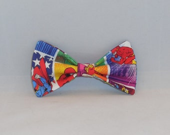 Adult Hair Bow Made With DC Comic Inspired Fabric