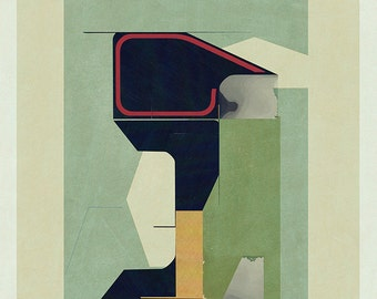 Abstract composition 771 - abstract geometric - minimalism - architecture - 60 x 84 cm - A1 - Limited edition