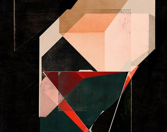 Abstract composition 793 - abstract geometric - minimalism - 105 x 150 cm - A1 - Limited edition