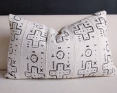 Authentic African mudcloth lumbar pillow cover