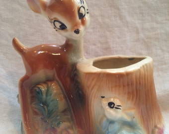 Vintage Disney Bambi and Thumper Planter