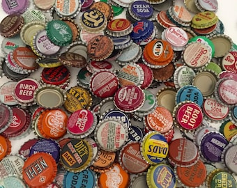Bottle Caps / Assorted Soda Bottle Caps YOU CHOOSE QUANTITY Great for Altered Art, Mixed Media, Jewelry, Steampunk, etc.