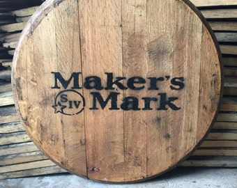 Makers Mark Bourbon whiskey barrel head