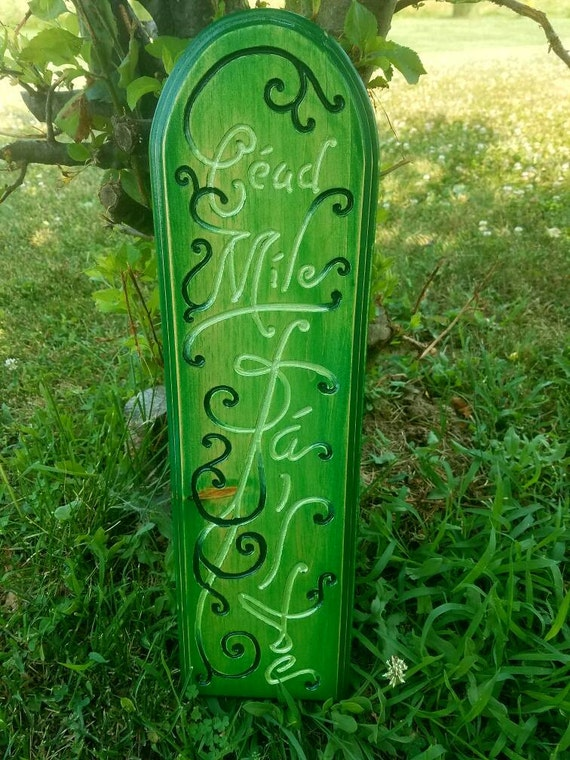 Mile 0 sticker meaning - Celtic Greeting Plaque Meaning A Hundred Thousand Welcomes